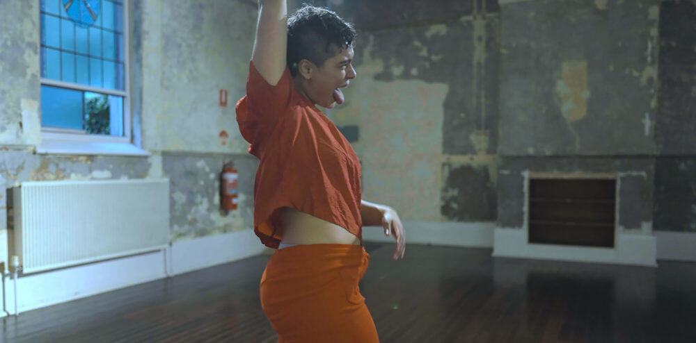 'CARE DANCE' (2021), Ebony Muller. Photo by Cohen Medson (videographer).